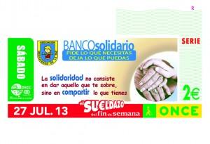 CUPON ONCE BANCO SOLIDARIO MENSAJEROS DE LA PAZ 270713