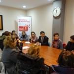 Reunión Rafa Sánchez Acera con trabajadoras Web
