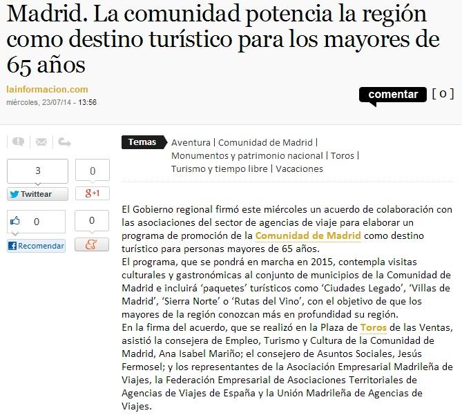 Turismo Comunidad Madrid