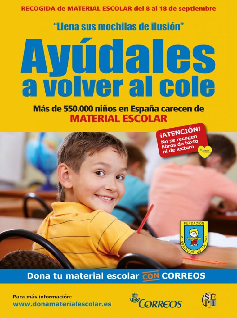Imagen Cartel llena sus mochilas Mensajeros Correos 2014 bj