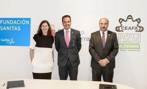 Yolanda Erburu, dtora gnral de la Fundación Sanitas, Íñigo Alli, consejero de Políticas Sociales, Jesús Rodrigo, dtor ejecutivo de CEAFA
