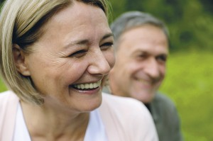 Portrait of a laughing mature couple
