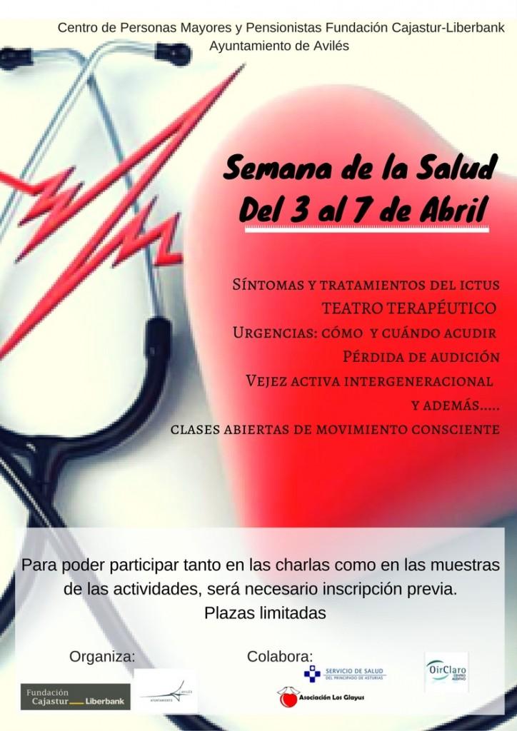 Cartel de la II Semana de la Salud del Centro de Mayores de Las Meanas
