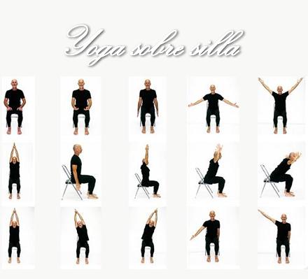 yoga sobre silla